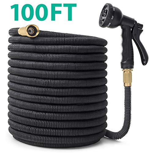 CACAGOO Garden Hose, 100 FT Durable Water Hose, Extra Strength Fabric – Improved Expanding Hose No Kink