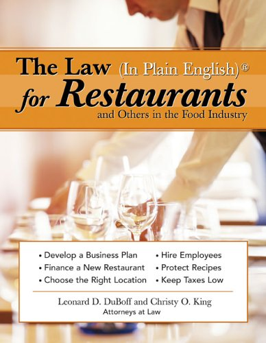 Law for Restaurants and Others in the Food Industry