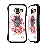 Official Monika Strigel Wolf Animals And Flowers Hybrid Case for Samsung Galaxy A3 (2016)