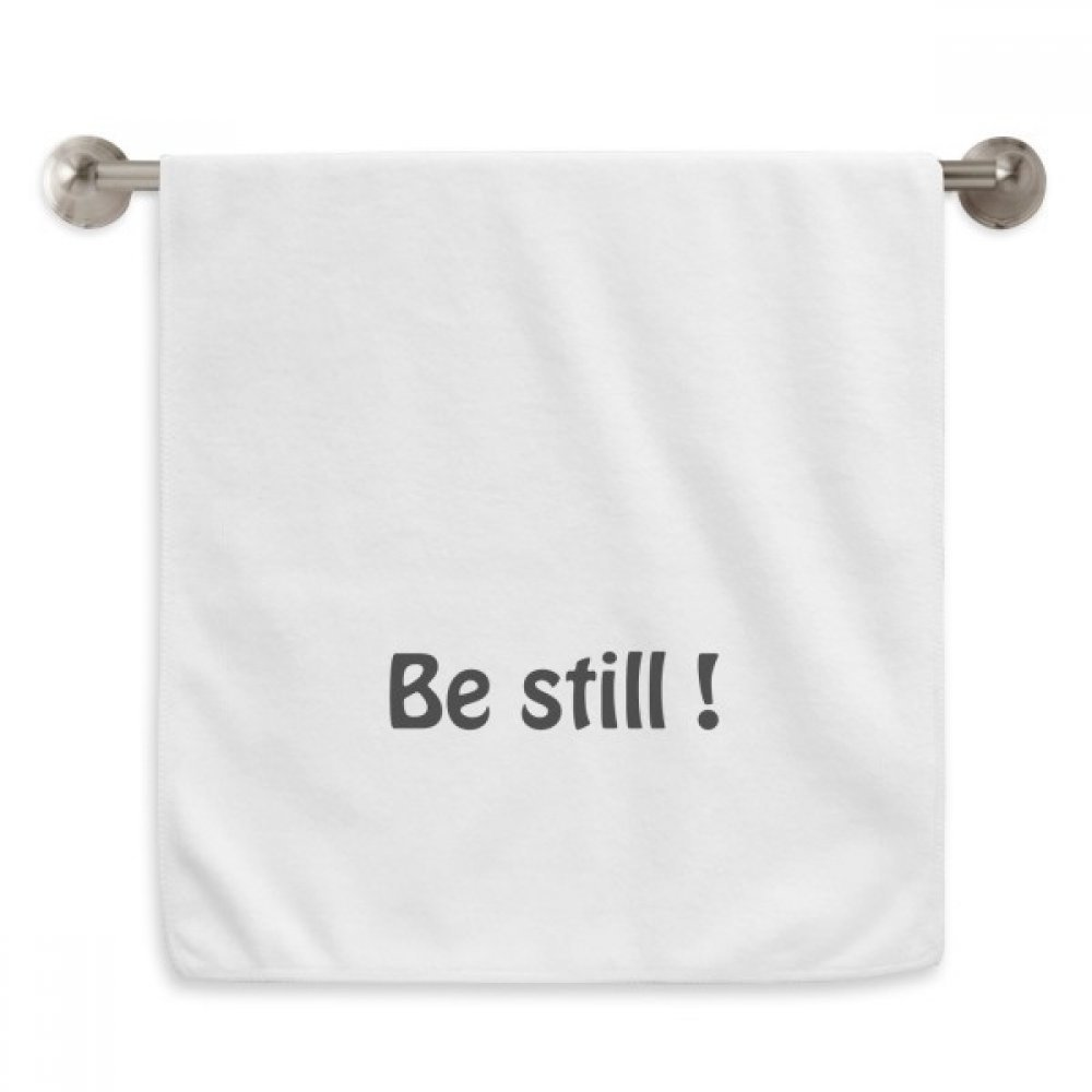 DIYthinker Be Still Text Christian Quotes Circlet White Towels Soft Towel Washcloth 13x29 Inch