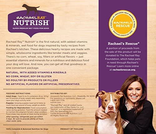 Rachael Ray Nutrish Premium Natural Wet Dog Food