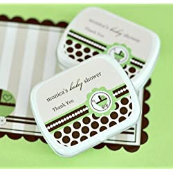 Personalized Mint Tins - Green Baby - Total 48 items