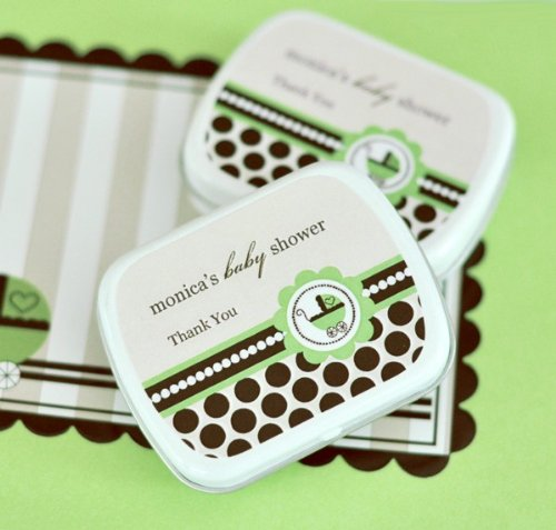 (Personalized Mint Tins - Green Baby - Total 96 items)