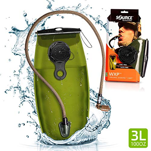 Source Tactical WXP 3-Liter Hydration Reservoir Leakproof Antimicrobial System with Storm Valve, Coyote - Hydration System