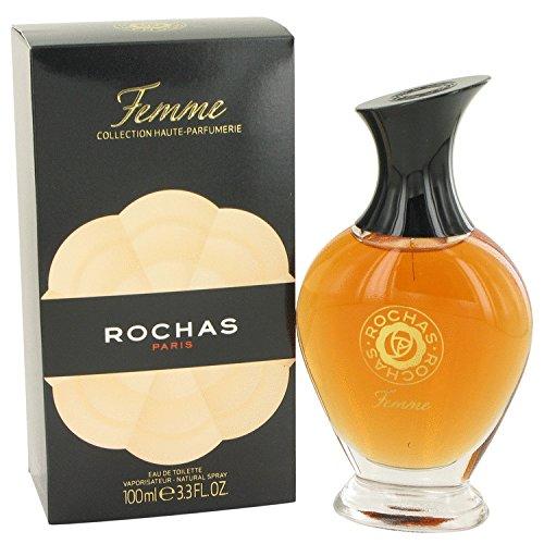 Rochas 3.4 Ounce Spray - FEMME Rõcháš by Rõcháš for Women Eau De Toílette Spray 3.4 oz