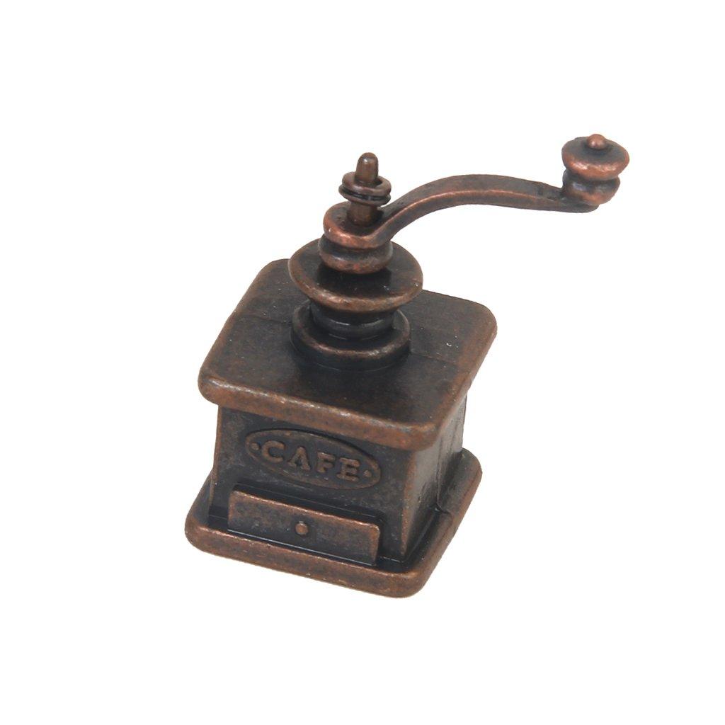 1/12 Puppenhaus Miniatur Küchen Jahrgang Kaffeemühle MagiDeal