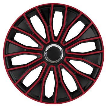 Tapacubos Tapacubos/Tapacubos Voltec Pro Black Rojo 15 apto para Alfa