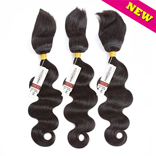 FASHION QUEEN HAIR Braid in Bundles Unprocessed Brazilian Virgin Hair Body Wave 3 Bundles 120g/Pc No Glue No Thread Braid in Virgin Human Hair Extensions (12 14 16inch) - Human Braid