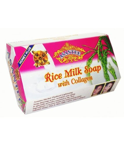 125g Soaps - Asantee Rice Milk with Collagen and Honey Soap 125 grams