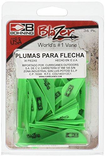 Bohning Blazer Vane (Pack of 36), Neon Green