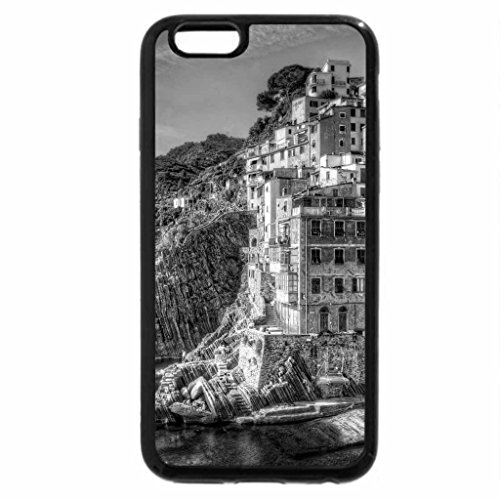 iPhone 6S Plus Case, iPhone 6 Plus Case (Black & White) - Italia, Riomaggiore
