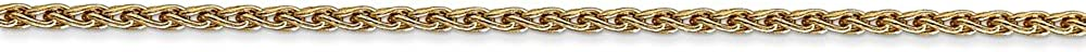 Jewels By Lux 14K Yellow Gold 1.75mm Parisian Wheat Chain