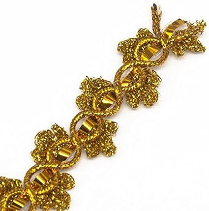 "New Antique Gold Metallic 1"" Trim 10 Yards"