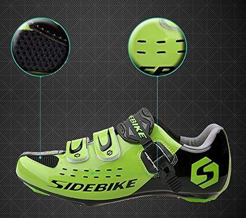 Sidebike Chaussures de cyclisme pour adulte avec p/édales et crampons en nylon respirant rembourr/é