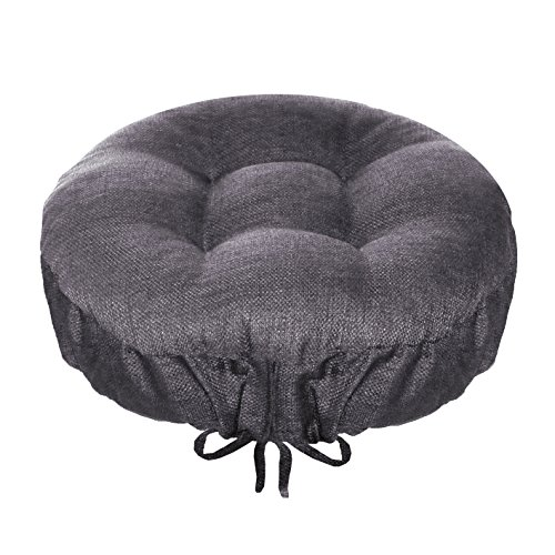 Silver Round Pool Cover (Barnett Products Bar Stool Cover - Rave Grey - Size Standard - Indoor/Outdoor Barstool Cushion - Latex Foam Bar Stool Cushion with Adjustable Drawstring (Round, Gray))