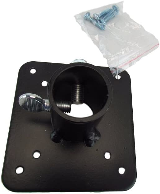 Squirrel Stopper Metal Mounting Flange for 1-inch Poles with Screws