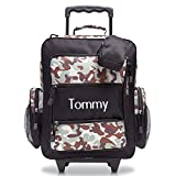 Classic Camo and Black Personalized Kids Rolling Luggage by Lillian Vernon