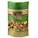 oh nuts dry roasted cashews - Fresh Mixed Nuts Roasted Unsalted Cashews, Walnuts, Brazil Nuts, Hazelnuts, Almonds, (2 Pound Bag) - Oh! Nuts