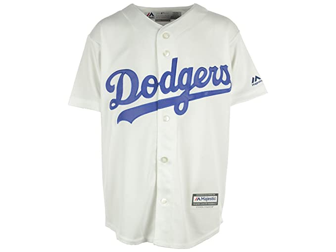 d4fb5e52 Amazon.com : Los Angeles Dodgers Cool Base Home Youth Jersey (youth xl  18-20) : Clothing