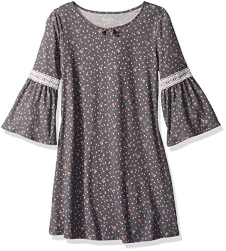 The Children's Place Girls' Big Long Sleeve Casual Dresses, Steamboat 86504, XL (14)