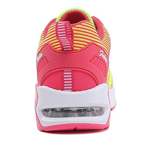 Misco KIKO Luftkissen Schuhe Damen Air Profilsohle Sportschuhe Laufschuhe mit Dämpfung Gr.35-40 Gelb