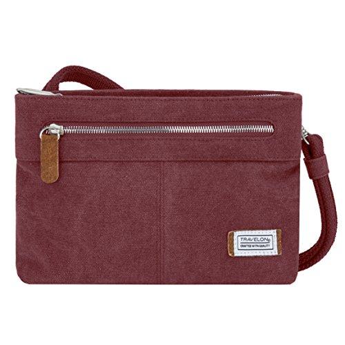 Bag Anti theft Crossbody Body Women's Cross Travelon Heritage Wine Small 8E5Hp5wq