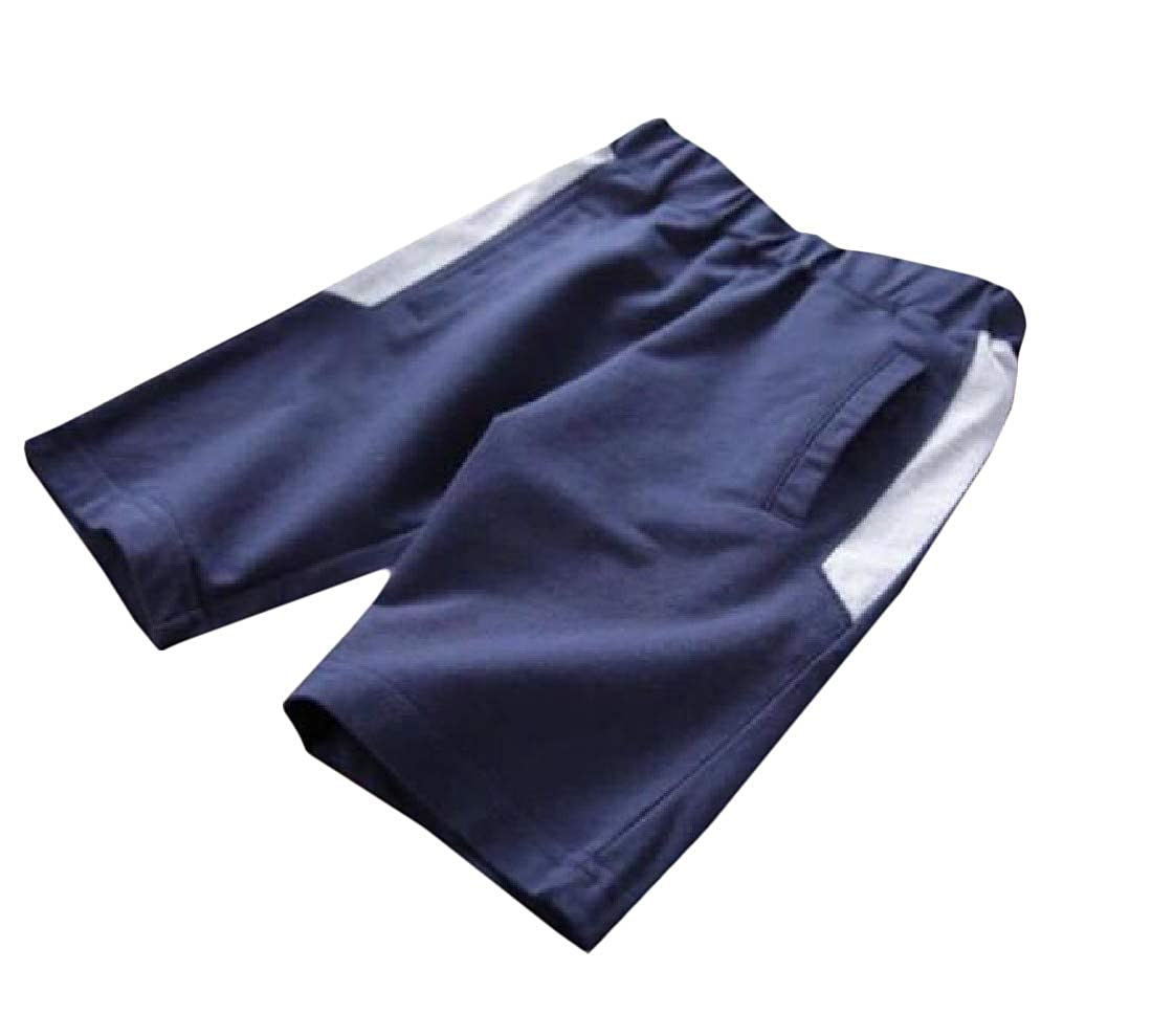 Pandapang Boys Casual Sports All-Match Cotton Cute Solid Color Shorts