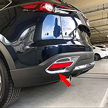 HIGH FLYING 1 Piece Front Machine Bonnet Cover Strip Decor Trim ABS Chrome For Mazda CX-9 2017 2018