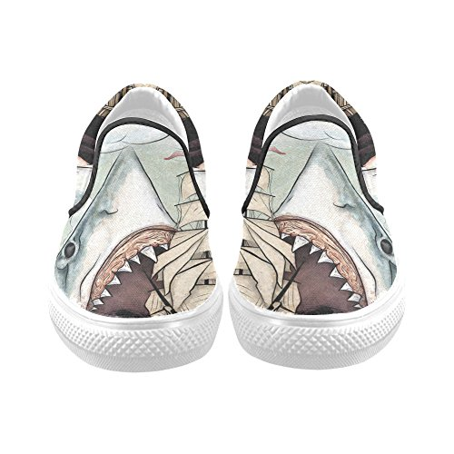 Sneaker Di Moda Scarpe Da Donna Slip-on Di D-story Shark Ship