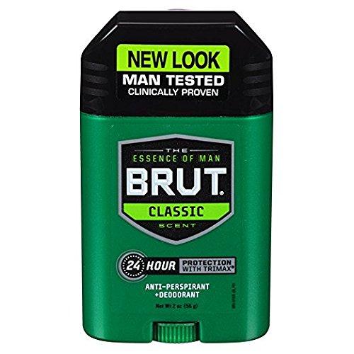 Brut Mens 24 hr Anti-Perspirant/Deodorant Solid 2 oz Original Scent-6 Pack