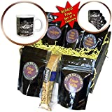 3dRose Susans Zoo Crew Animal - Alligator open mouth behind tree - Coffee Gift Baskets - Coffee Gift Basket (cgb_294884_1)