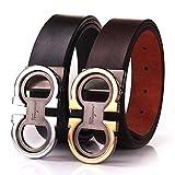 Mens Smooth Leather Belt 33mm Wide