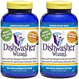 Dishwasher Wizard Dishwasher Additive Works with Your Dishwasher to Remove Hard Water Spots and Film and Eliminates Dishwasher Odor, 2 Pack