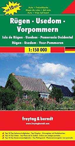 Freytag Berndt Autokarten, Rügen - Usedom - Vorpommern 1:150.000 (freytag & berndt Auto + Freizeitkarten) (Englisch) Landkarte – Folded Map, 11. Mai 2009 Freytag-Berndt und Artaria KG 3707911543 Deutschland Mecklenburg-Vorpommern