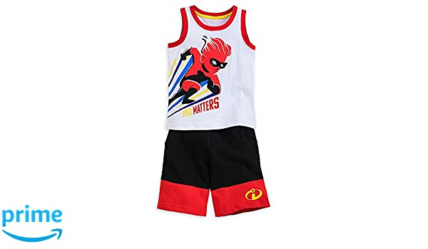 fbd45ad4f31de Amazon.com: Disney Dash Tank and Shorts Set for Boys - Incredibles 2 Size  5/6: Clothing