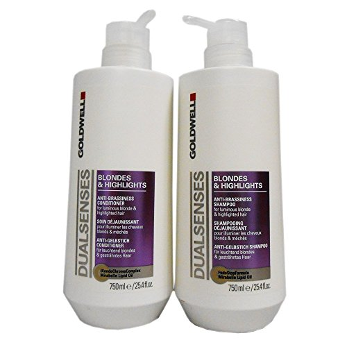 Goldwell Dual Senses Blondes & Highlights Conditioner and Shampoo 25.4 Oz by Goldwell