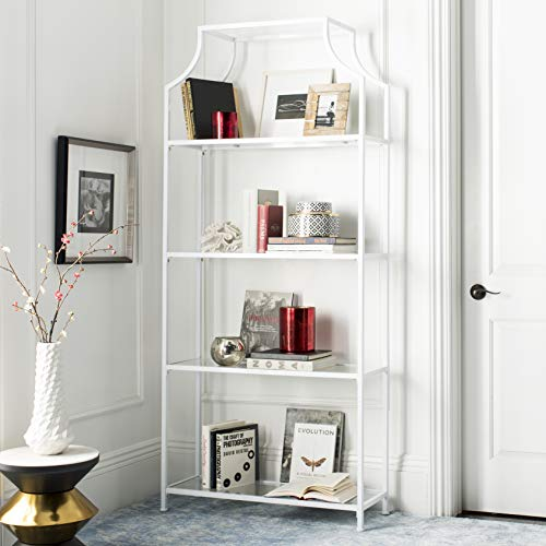 Safavieh FOX6298A Home Collection Slater 4 Tier Etagere, White