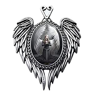 Prayer For The Fallen - Angel Cameo Oval Cabochon Style Pendant