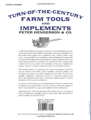 Turn-of-the-Century Farm Tools and Implements (Dover Pictorial Archive Series)
