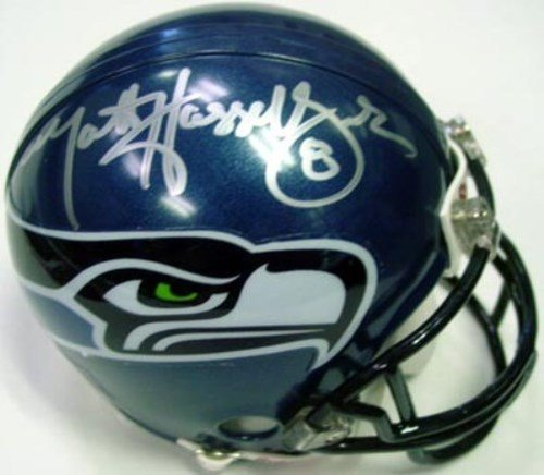 Matt Hasselbeck Signed Seattle Seahawks Replica Mini Helmet - Autographed NFL Football - Football Matt Hasselbeck