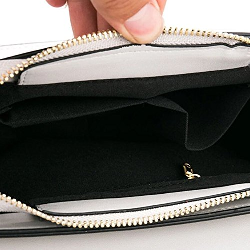 Black Black Shoulder Buttons Shoulder Polyurethane Bags PU Bags Silver Bag Red GMYANDJB Women's aCxHqx7