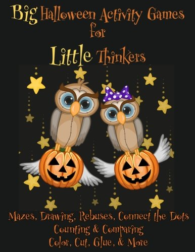 Big Halloween Activity Games for Little Thinkers: Mazes,