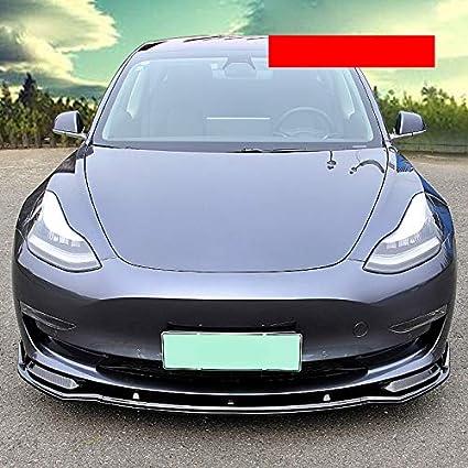 Car Carbon Fiber Front Lip,Front Bumper Lip,Carbon Lip,Side Skirt,Front Bumper Lip Spoiler Bodykit Splitter Front Lip Front Lip Spoiler 100/% Waterproof Protection for Tesla Model 3 Sedan 2018 2019 Matt Black