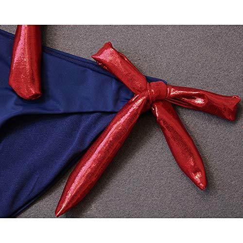 Silver Costume Dimensioni Da Tre Bagno Dark Red Spiaggia Chenyang86 Bikini colore L Blue Punte A Con Sexy White OqnY5Pf5