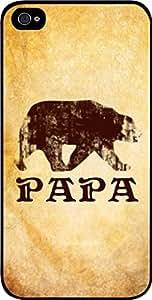 Papa Bear-Grunge- Case for the Apple Iphone 4-4s Universal-Hard Black Plastic