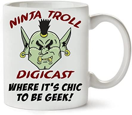 PC Hardware Store Ninja Troll Taza para Café Y Té: Amazon.es ...