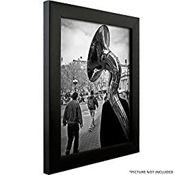 Craig Frames 1WB3BK 8 by 10-Inch Picture Frame 4-Piece Set, Smooth Finish, 1-Inch Wide, Black