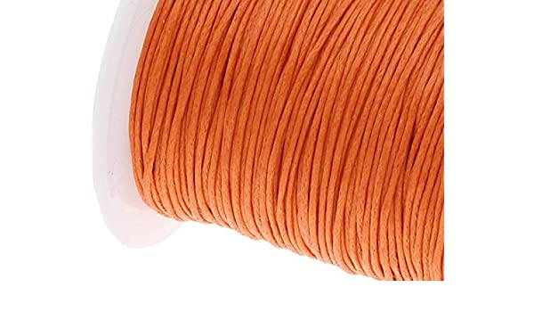 Perlin 75 m cordón de algodón Encerado Joyas 1 mm Naranja Cera Hilos Manualidades c169: Amazon.es: Juguetes y juegos