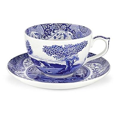 Blue Italian 20 oz. Jumbo Cup and Saucer