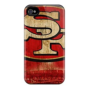 LatonyaSBlack Case Cover For Iphone 4/4s - Retailer Packaging San Francisco 49ers Logo Nfl Protective Case